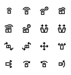 Set of touche gesture icons vector