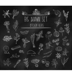 Set of various doodles hand drawn rough simple vector image