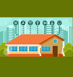 smart home infographics vector image