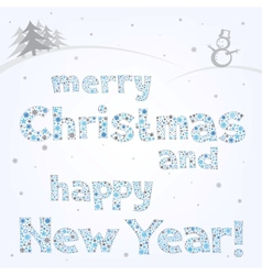 snow xmas text vector image