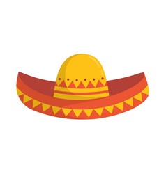 sombrero isolated on white background vector image