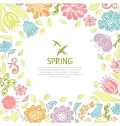Spring background from flowers vector