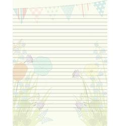 Spring paper sheet vector