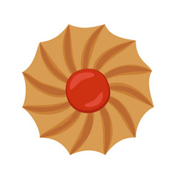Swirl biscuit icon flat style vector