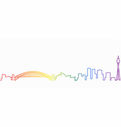Sydney gay-friendly skyline vector