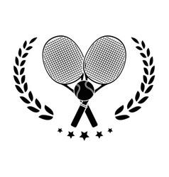 Tennis rackets equipment vector