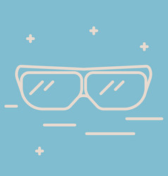 Thin line icon of protective glasses chemical vector