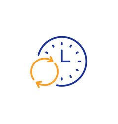 Time line icon update clock sign vector