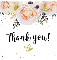 Wedding invitation thank you card design with vector
