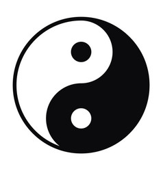 yin and yang symbol isolated on white background vector image