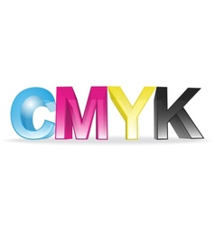 CMYK concept vector image vector image