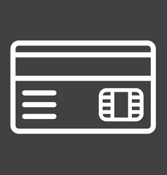 credit card line icon bank and business vector image vector image