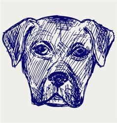 Portrait puppy vector image vector image
