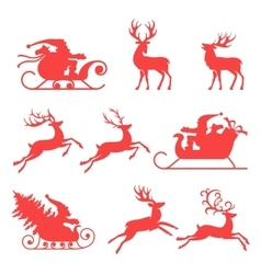 Reindeer and Santa Claus The best element for vector image
