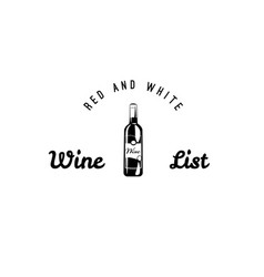 set of wine black and white labels wine vector image vector image
