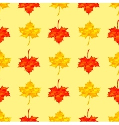 Autumn red maple seamless pattern vector