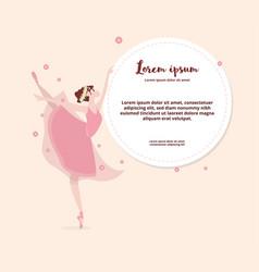 cute cartoon dancing ballerina vector image