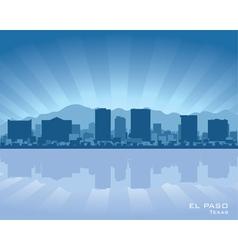 el paso texas skyline vector image vector image