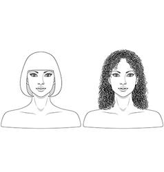 girl black white vector image