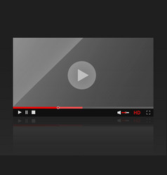 glossy video player frame modern video vector image