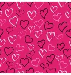 hearts doodle pattern vector image