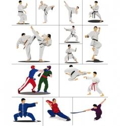 oriental combat vector image