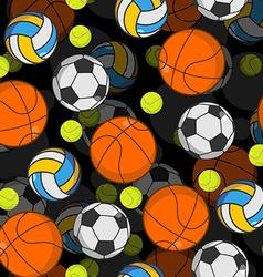 Sports ball 3d seamless pattern Balls decoration vector image