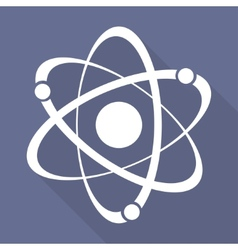 Molecule atom icon vector