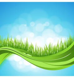 Nature ackground Abstract backdrop with green gra vector image