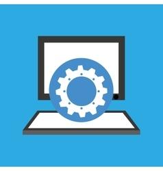Computer desktop communication gear social network vector