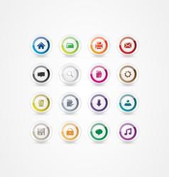 Multicolor web icons 2 vector image vector image