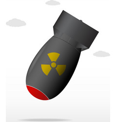 nuclear bomb vector image vector image