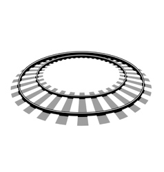 Railroad tracks llustration vector image vector image