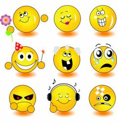 yellow smileys vector image vector image