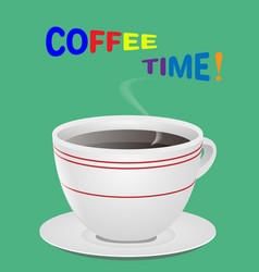 a cup of fresh coffee vector image