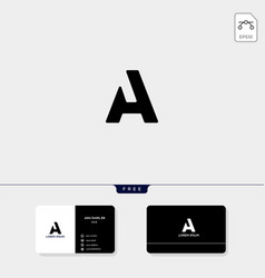 abstract initial a logo template and business vector image