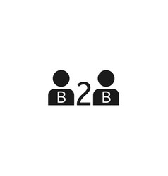 B2b commerce icon vector