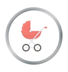 Baby transport icon in cartoon style isolated on vector image