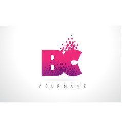 bc b c letter logo with pink purple color and vector image