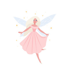 beautiful flying fairy owith blonde hair in vector image