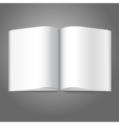 Blank white opened book magazine or photo album vector image
