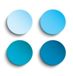 Blue circle empty banner on white background vector