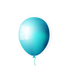 blue shiny balloon vector image