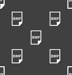 BMP Icon sign Seamless pattern on a gray vector image