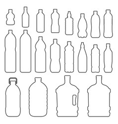 bottles outline icon set vector image