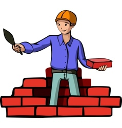 Brick builder vector
