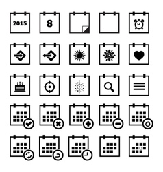 Calendar Icon set vector image