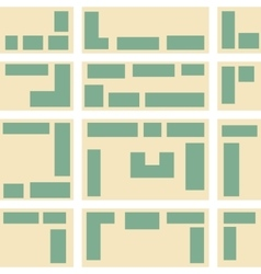 City map pattern vector