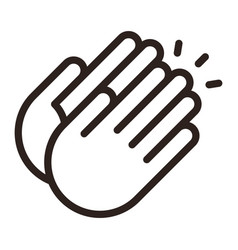 Clapping hands icon vector