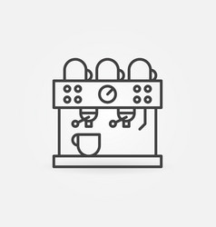 coffee machine concept line icon vector image